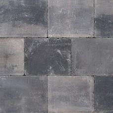 Trommelsteen grijs zwart 20x30x6cm