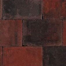 Trommelsteen rood zwart 20x30x6cm