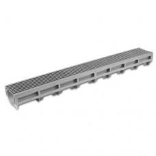 Topgoot zilvergrijs staafrooster 100cm